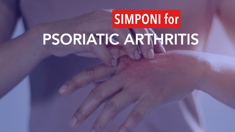 Simponi Effective Initial Therapy for Psoriatic Arthritis